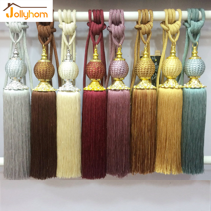 2pcs/Pair Curtain Hanging Ball &Tassel European Style Tieback Bedroom Livingroom Curtain Decoration 8 Colors(China (Mainland))