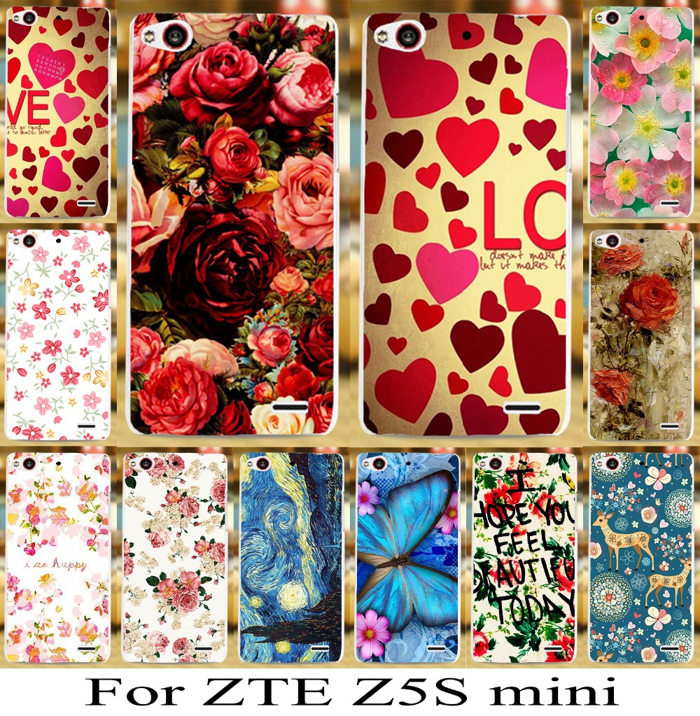 2015 New Arrival Sale For Zte Nubia Z5s Mini Beautiful Flower Skin Cover Bag Mobile Phone Case Newest Stylish Cellphone Hood(China (Mainland))