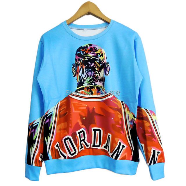 HOT! 2015 New High quality Women Men Jordan figure painting Print 3D Sweatshirts Hoodies Galaxy clothes Tops Free shiping