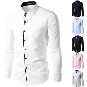 Новый 2015 весна осень хлопок рубашки высокое качество мужские свободного покроя рубашка, Свободного покроя мужчин Большой размер XXXXL уменьшают подходящий социальные рубашки
