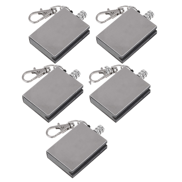 5Pcs Multifunction Metal Match Lighter Gas Oil Fire Starter Keychain for Camping Outdoor US#V(China (Mainland))