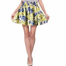 Buy Vintage Skirts Womens Retro Pleated Floral Chiffon Mini Short Skirt High Waist Mini Skirt YRD for $3.32 in AliExpress store