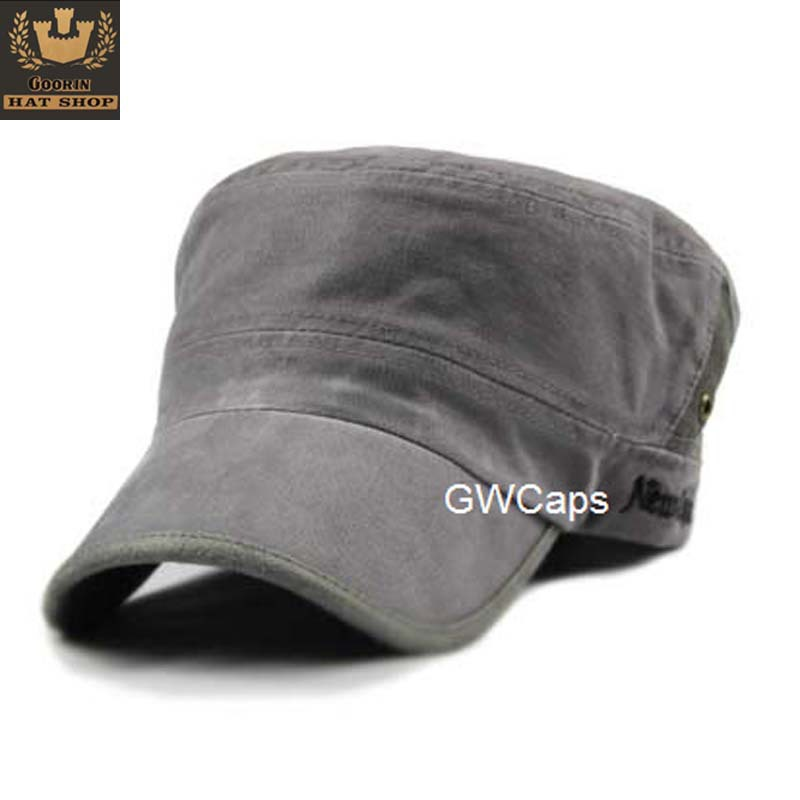 Bones Masculinos Mix Order free Shipping - Water Wash Vintage Cadet Military Cap Hat Male Women's Spring And Summer The Trend of(China (Mainland))