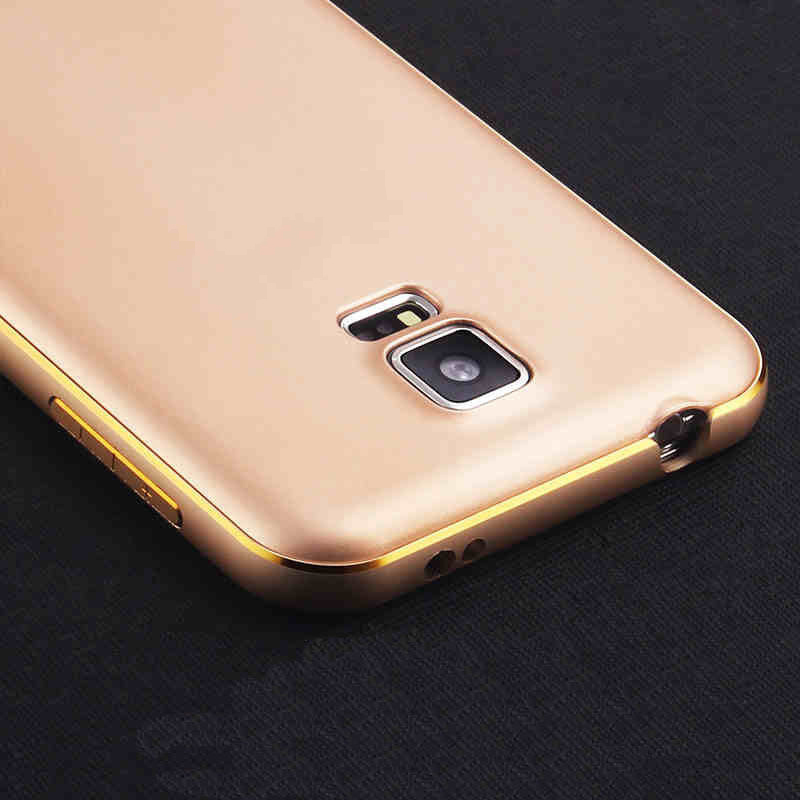 Metal Frame + Matte Battery Back Cover Metal Brush Surface Design Phone Case For Samsung Galaxy S5 G9006V Battery Cover(China (Mainland))