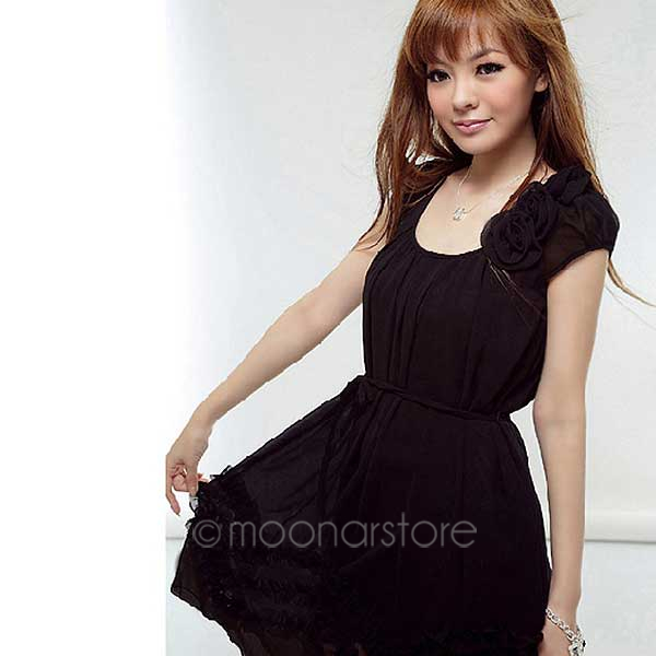 2016 free shipping summer dress plus size chiffon dress pink color vestidos de festa party dress(China (Mainland))