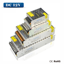 1x 1A 2A 3A 5A 8A 10A 12A 15A 20A 30A 40A AC110V-265V to DC12V High quality LED driver for LED strip power supply power adapter(China (Mainland))