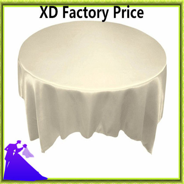 2016 10pcs 140*140cm satin table cloth Industry Fabric wedding from China free shipping(China (Mainland))