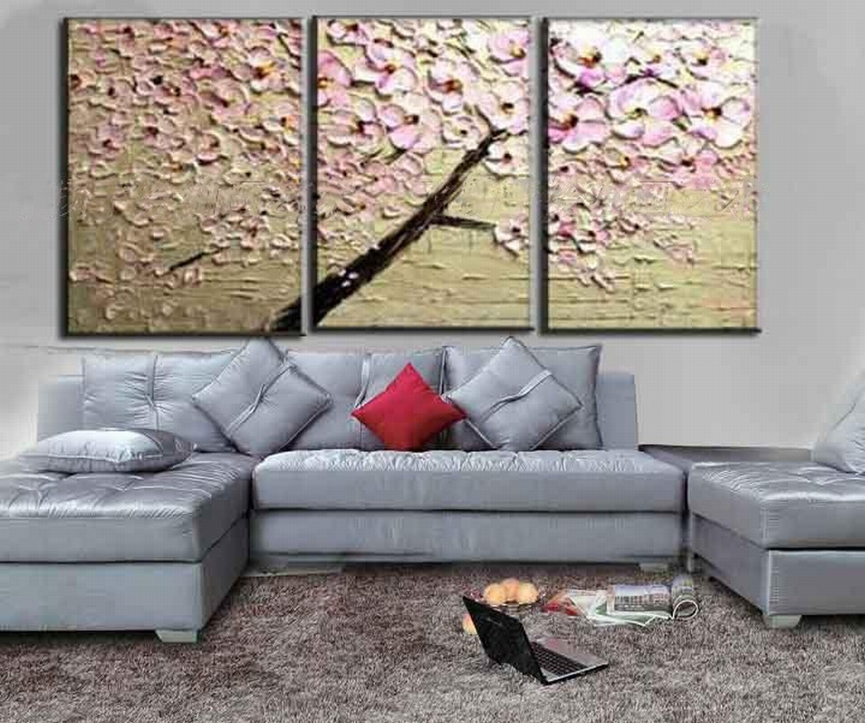 Buy 2016 Home Decor New Fashion Europe type Fortune Rich Tree 100% Handpainted Knife Thick Oil Painting On Canvas free Shipping cheap