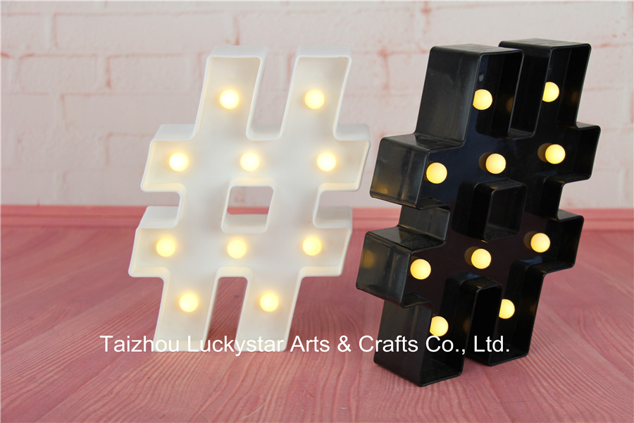 Novelty Free shipping MINI Hashtag LED Marquee Sign LIGHT UP Marquee Light neon light Indoor Deration(China (Mainland))