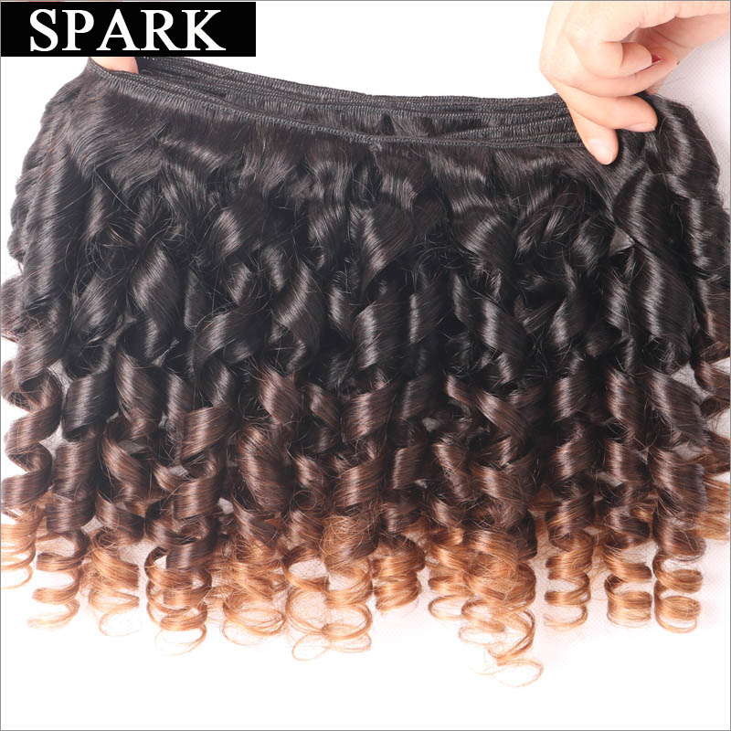 Brazilian Virgin Hair Jerry Spiral Curl Human Hair Weave 3 Or 4pc Bouncy Curl Kinky Curly Virgin Hair Human Hair Wigs For Black