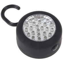 New 24 LEDs Hanging Work / Inspection Light Round-shape waterproof LED light with Hook + Magnet for Camping,Outdoor Sport Car(China (Mainland))