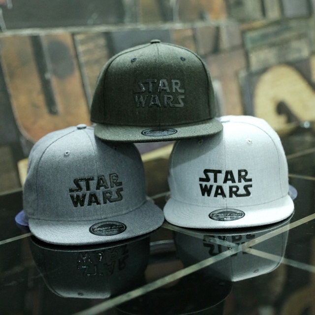 Star Wars Baseball Cap With Text Star Wars(White)