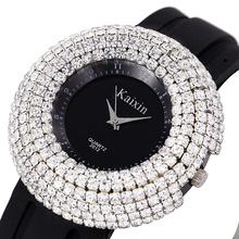2016 Fashion Luxury Full Crystal Rhinestone Wristwatch TOP Quality Silicone Ladies Women Dress Watches Clock Relogio Feminino