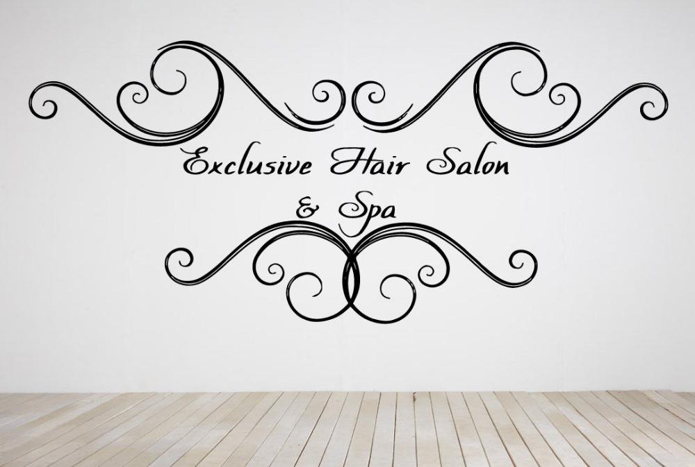 Acheter beaut cheveux salon stickers - Stickers muraux pour salon ...