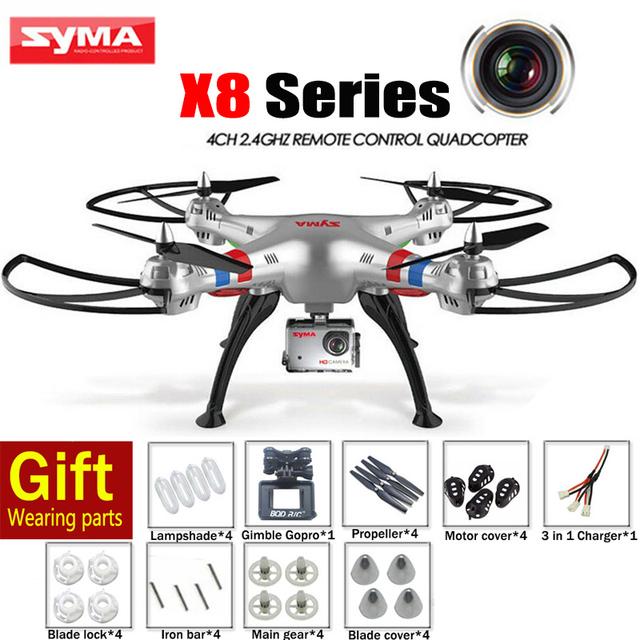 Cheappest X8G X8C X8W X8 Вертолет 2.4 Г 4CH SYMA 6-Axis Drone С Камерой 5MP/2MP Профессиональный CAM ИЛИ SYMA X8 квадрокоптер
