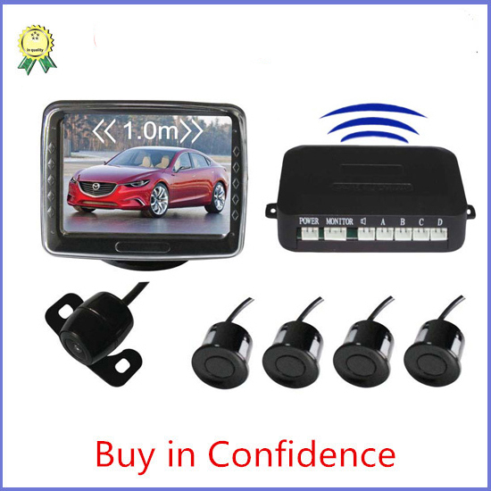 3.5inch LCD display car parking sensor system buzzer car parking park sensor system reversing(China (Mainland))