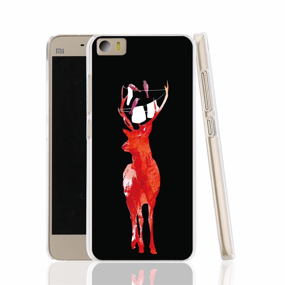 15385 Play it cool red deer black cell phone Cover Case for Xiaomi Mi M 2 3 4 5 Mi4 Mi2 Mi3 Mi4 4S 4I Mi5 NOTE(China (Mainland))