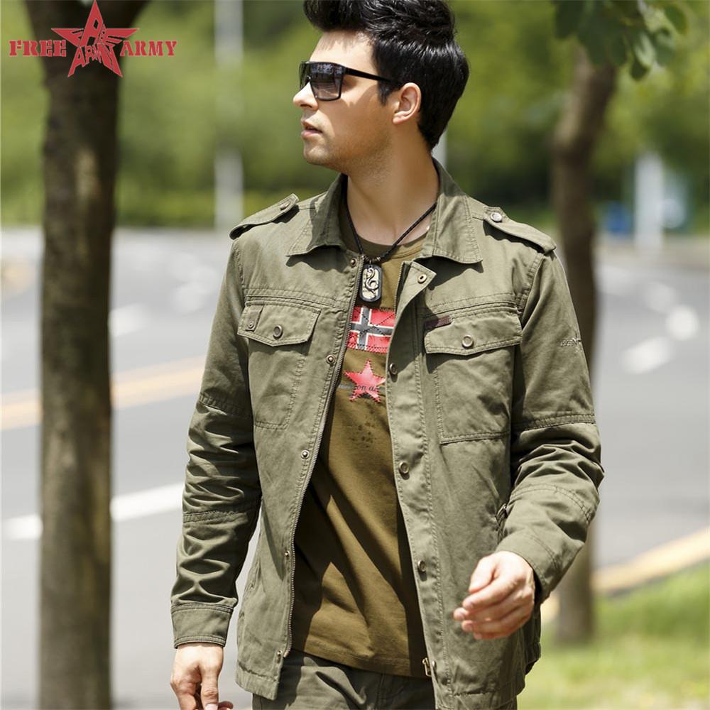 Free Army Brand 2016 Mens Shirts Fashion Long Sleeves Cotton Turn down Collar Military Style Mens Casual Shirt Clothing MS-605(China (Mainland))