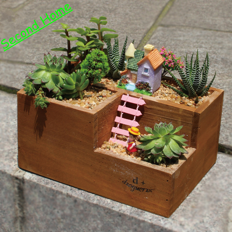 Garden decoration bonsai ornaments micro landscape diy for Flower pot out of waste material