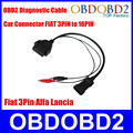 OBD OBD2 Fiat 3 Pin Alfa Lancia to 16 Pin Diagnostic Cable Car Connector Fiat 3Pin