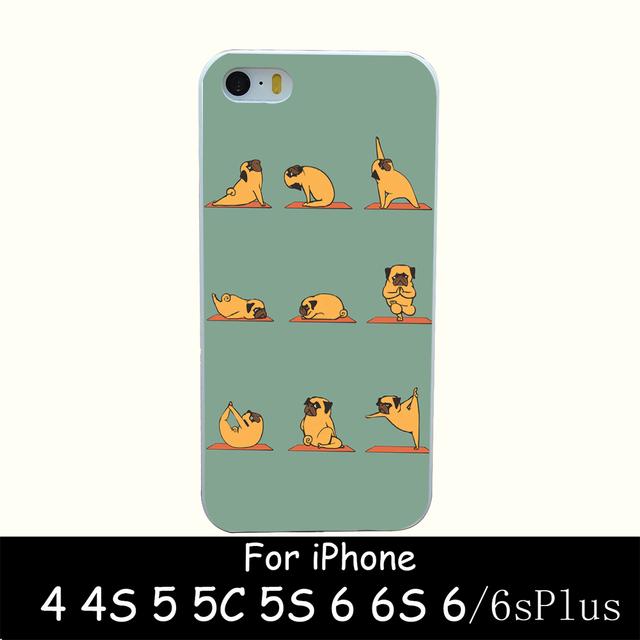 Etui iPhone 4/4S/5/5S/SE/5C/6/6S/6Plus/6SPlus Yoga Pug