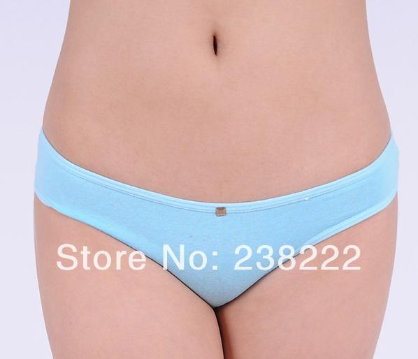 Free shipping New Women's 100% cotton panties Girl Briefs Ms. cotton underwear bikini underwear sexy cotton disabilities 86376(China (Mainland))