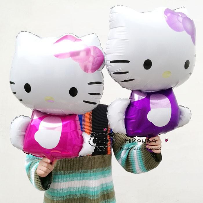 1pcs Hello Kitty Cat foil balloons cartoon birthday decoration wedding party inflatable air balloon Classic toys Christmas gift(China (Mainland))