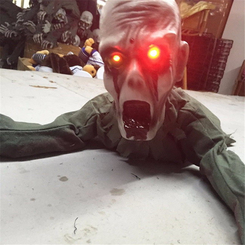 2016 Newest Halloween decoration ghost terror ghost spirit shook the induction climb Tricky Toys(China (Mainland))