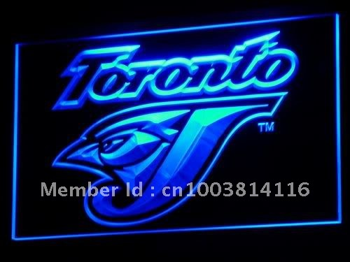 b128-b Toronto Blue Jays Bar Gifts LED Neon Light Sign Wholesale Dropshipping On/ Off Switch 7 colors DHL(China (Mainland))
