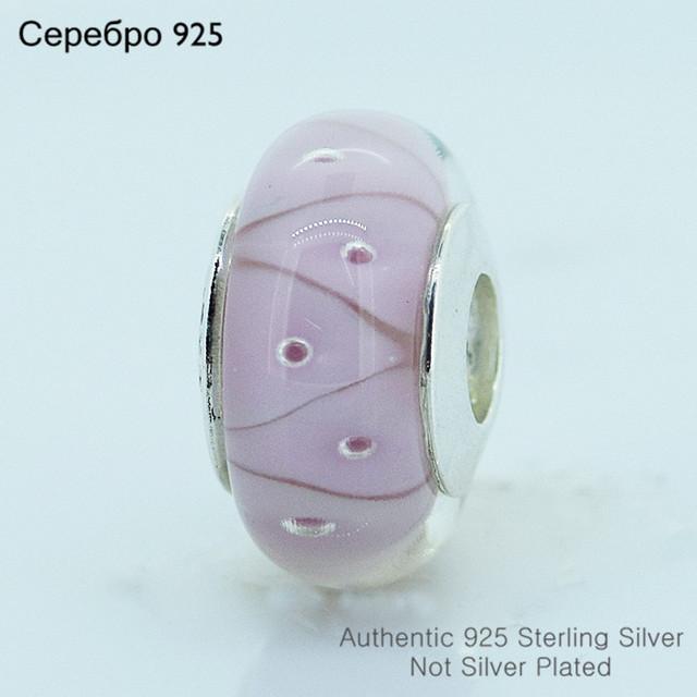 Муранского стекла бусины 925-Sterling-Silver женщин DIY ювелирных изделий подходит пандоры прелести браслет A606A