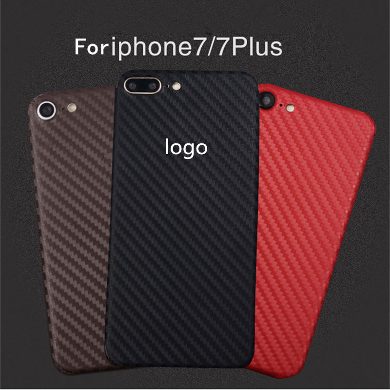 New 3D Carbon Fiber Skins Protective Film Wrap Skin Cellphone back paste Protective Film Sticker For iphone 7/ 7plus(China (Mainland))