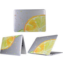 New Transparent Lemon Butterfly Flower Printed Hard Cover Case For Apple Macbook Air 13 Pro 13 Retina 13 13.3 inch