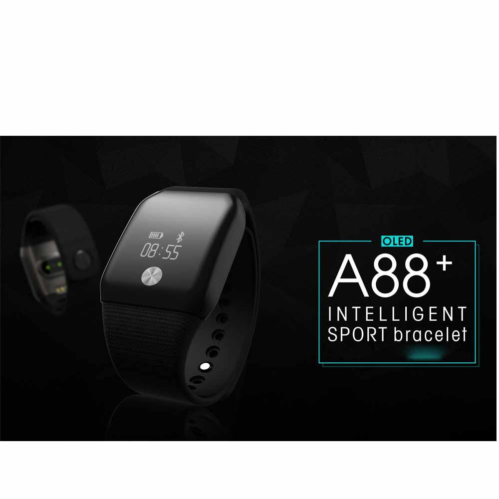 ถูก ขายดีA88 +นาฬิกาบลูทูธHeart Rate Monitorโลหิตออกซิเจนสมาร์ทสายรัดข้อมือสิงหาคม31