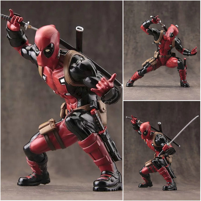 Deadpool Figuras X-men PVC Action Figures Model Toy Dolls Cool Kids' Gift Home Office Decor 13.5cm(China (Mainland))
