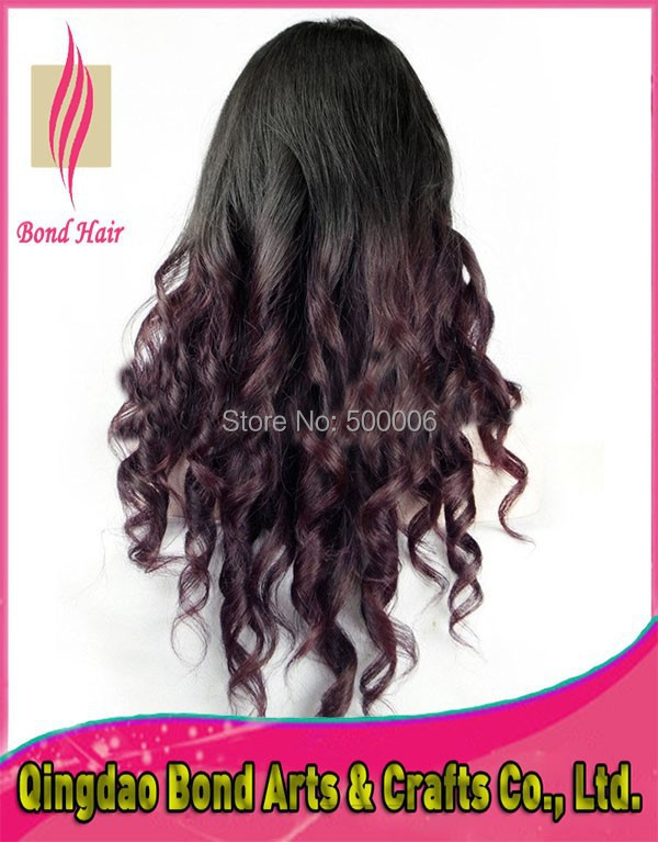 Glueless Ombre Lace Front Human Hair Wigs Baby Hair, Loose Wave Brazilian Ombre Hair Full Lace Human Hair Wigs For Black Women<br><br>Aliexpress