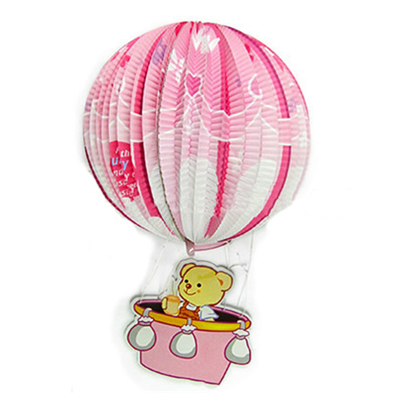 Cubs hot air balloon Paper Lantern Round Handcrafted Wedding festival Dress up Decoration Child Portable Lantern(China (Mainland))
