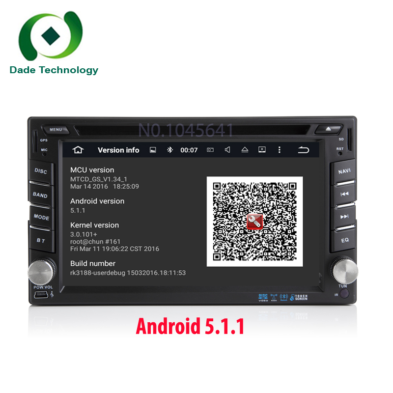 Universal 2 din Android 5.1 Quad core Car DVD player 2din Car Radio DVD GPS Navigation In dash Car PC Stereo video free sipping(China (Mainland))