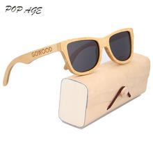 Buy Bamboo Glasses UV400 Black Lens Polarized Glasses Sunglasses Oculos de sol Masculino Polarizado Luxury Brand Men Vintage Eyewear for $11.91 in AliExpress store
