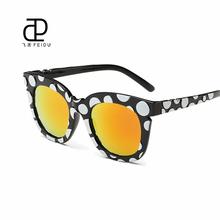 FEIDU 2016 High Quality Cat Eye Sunglasses Women Multicolor Frame Women's Sun Glasses For Women Driving Oculos De Sol Feminino