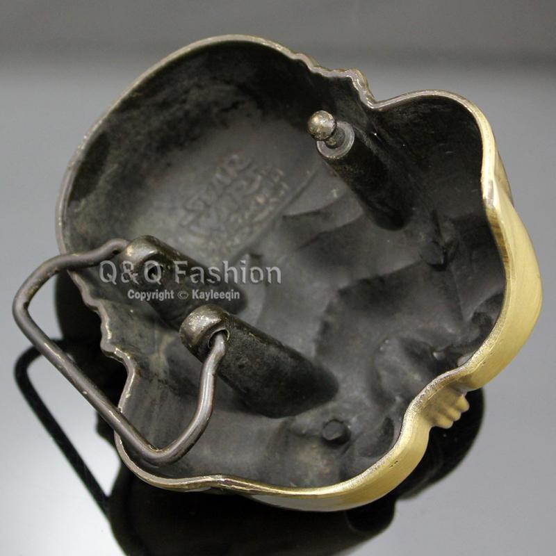 Vintage Gold Star Wars Stormtrooper 3D Helmet Mask Belt Buckle Fancy Dress Jewelry Free Shipping