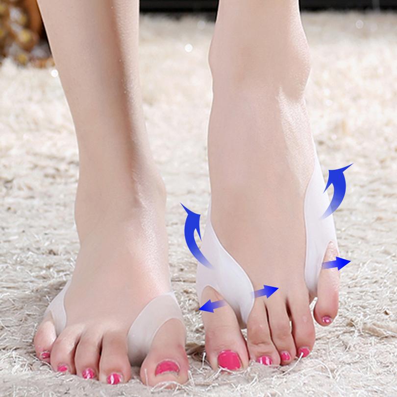 New Arrival 1Pair=2Pcs Silicone Gel Toe Separator Thumb Valgus Protector Bunion Adjuster Hallux Valgus Corrector Feet Care(China (Mainland))