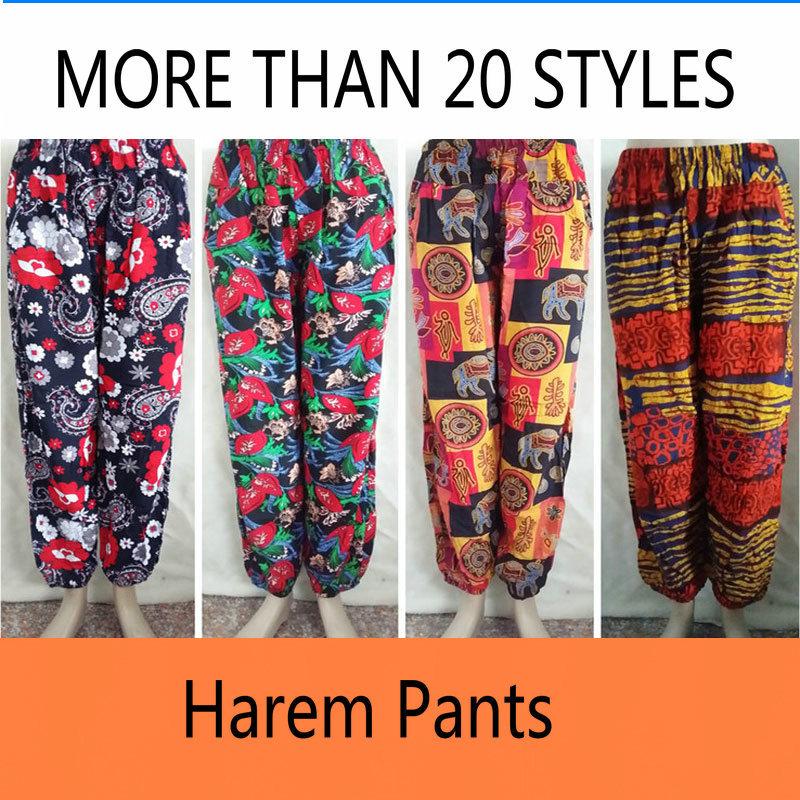 2015 Bamboo Cotton Thai Flowy Comfy Beach Baggy Boho Gypsy Hippie Women Harem Pants TrousersОдежда и ак�е��уары<br><br><br>Aliexpress
