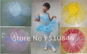 Free shipping! Ballet Tutu! New Red Girls Ballet Leotard Dance Dress /tutus SZ 3-8/1/dozen=10pcs