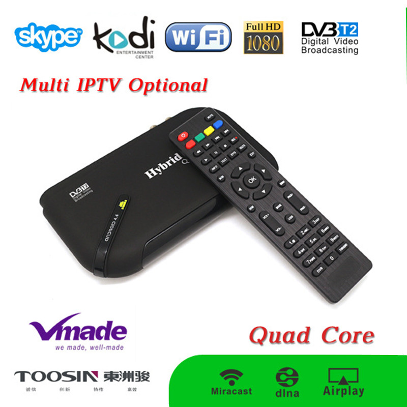 Home USE Android TV Box Update Version Quad Core S805+T2 Android IPTV TV BOX Receiver DVB T2 HDMI AV Cable Google TV Box(China (Mainland))