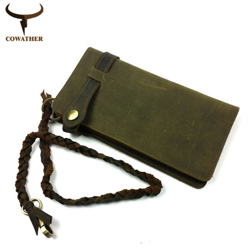 [COWATHER] 2015 Vintage cow genuine leather wallets for men crazy horse leather high grade huge capacity fashion free shipping<br><br>Aliexpress