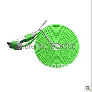 Freeshipping Wholesale 10pcs/lot 2M Noodles Flat Line USB Data Cable for iPhone 4 4S 3G New iPad3 /2 iPod(China (Mainland))