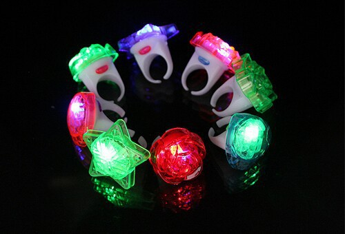 Magic LED Finger Lights Lamps Flashlight Beam Colourful Ring Lights Children Toys Kids Gifts(China (Mainland))