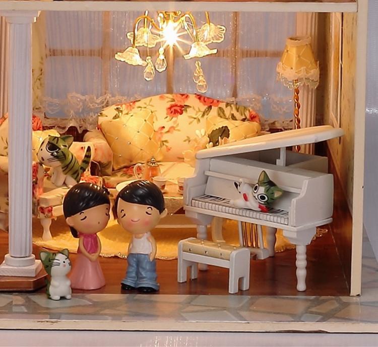 DIY Wooden Handcraft Dolls house Miniatures