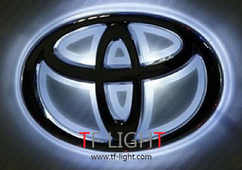 car logo emblem light for toyota corolla mark camry rav4. Black Bedroom Furniture Sets. Home Design Ideas