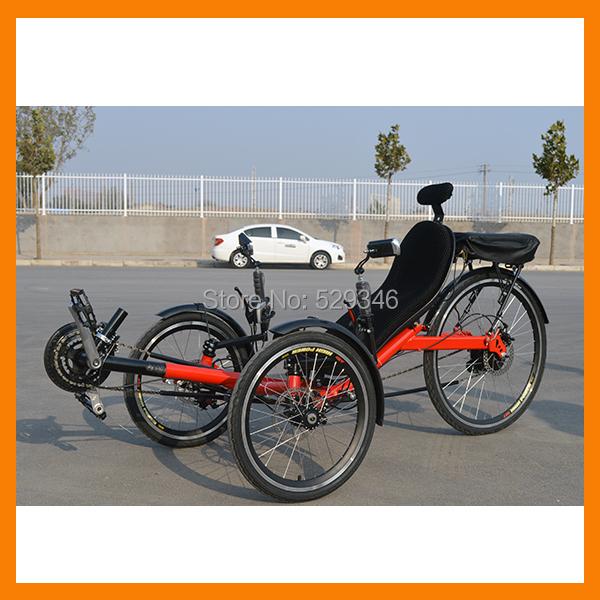 250w motor folding electric tadpole recumbent trike in for Recumbent bike with electric motor